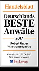 Siegel Unger Rechtsanwälte - Deutschlands beste Anwälte 2017
