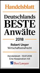 Siegel Unger Rechtsanwälte - Deutschlands beste Anwälte 2018